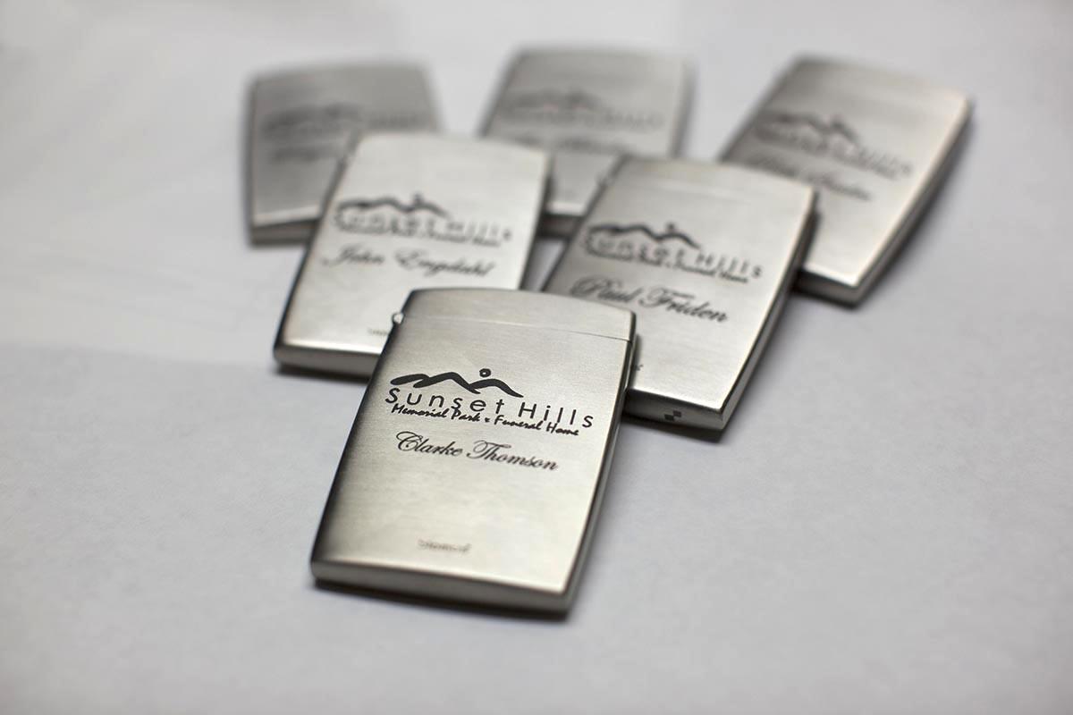 laser engraved business card holders - Bellevue Fine Art ...