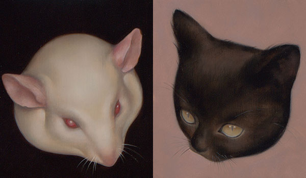 """Willard"" and ""Black Kitten"" 4x5"