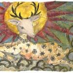 deer dancing in heavens by Mary Flynn-Gillies