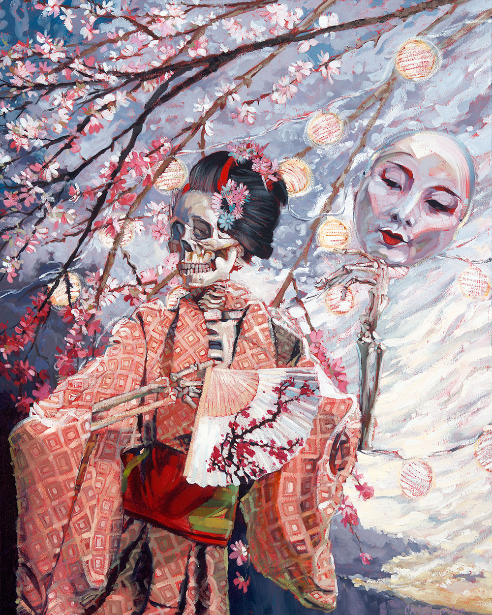Geisha and Cherry Blossoms