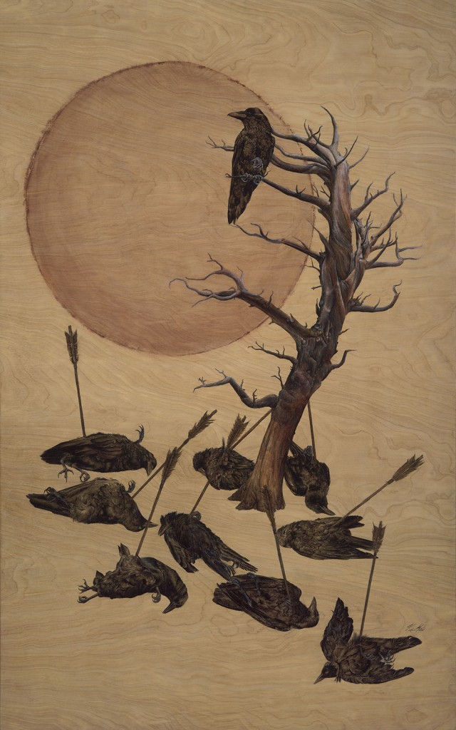 The Ten Suncrows 30x48 by Kirsten Michael
