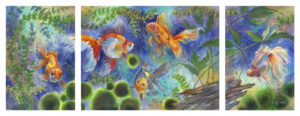 Art by Catherine James, Watercolor, Goldfish, BFAR Art Scan